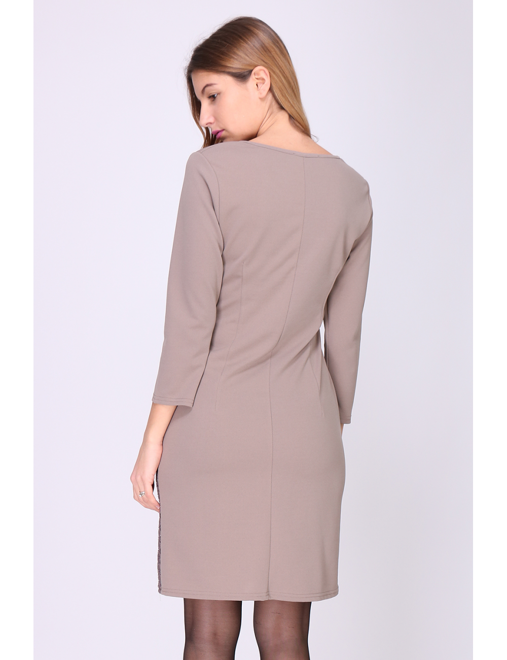 Robe qachanel  Taupe