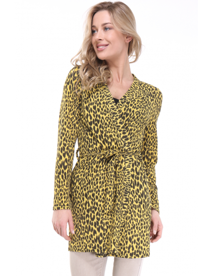 Gilet imprimé léopard manches longues